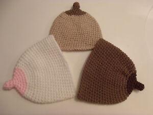 Image is loading Crochet-Baby-Boob-Hat-Breastfeeding-Beanie-Newborn-to- b1eb2f8a7141