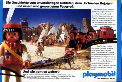 Werbung von 1990 Playmobil- Häuptlingssohn Schneller Kojote