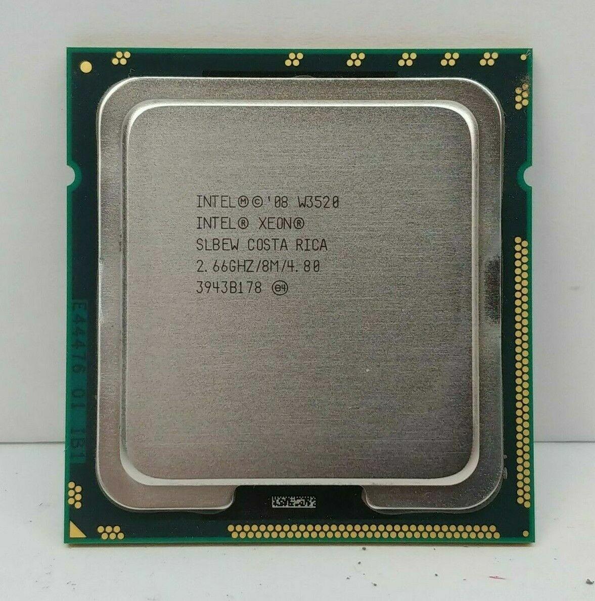 10 lot INTEL XEON W3520 2.66GHZ SLBEW QUAD CORE B LGA1366 8M CPU PROCESSOR