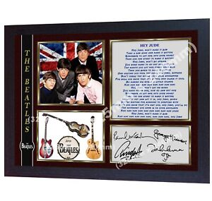 The-Beatles-Hey-Jude-signed-photo-print-autographed-Framed