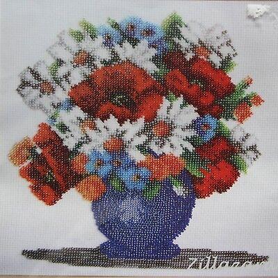 Blume Stickpackung Stickset Kreative Handarbeit Bild sticken Perlen Geschenk 337