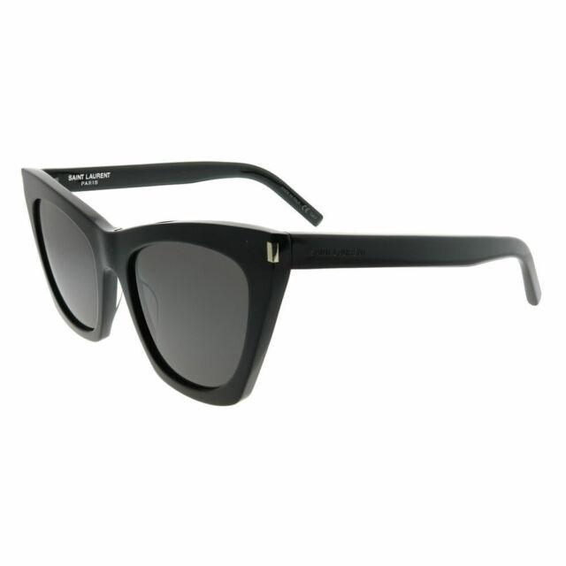 be834d902c0 Authentic Saint Laurent SL 214 Kate 001 Black W grey Sunglasses 55mm ...
