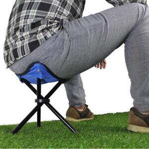 Outdoor-Fishing-Chair-Portable-Tripod-Stool-Folding-Chair-Camping-Walking-Pic-SE