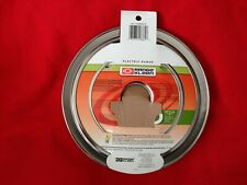 Range Kleen P1056RGE8 Style D Black Porcelain 4-Pack Drip Pans and 4-Pack Trim Rings for GE//Hotpoint