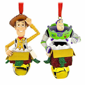 Toy Story Christmas Ornaments.Details About Disney Parks Woody And Buzz Lightyear 3d Bell Ornament Set Toy Story New