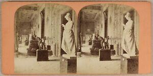 Italia Museo Da Napoli c1870 Foto Stereo Vintage Albumina