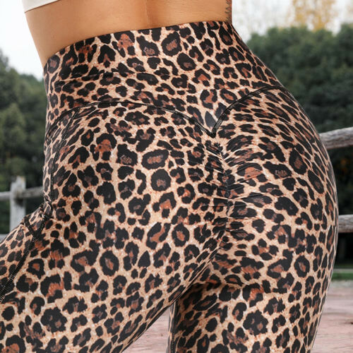Womens High Waist Sports Fitness Long Pants Gym Yoga Workout Tights With Pockets
