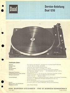 Aufstrebend Dual Service Manual Für 1210 . Tv, Video & Audio
