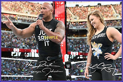 """Ronda Rousey WWE Wrestling Signed Autograph PRINT 6x4/"""" Gift"""