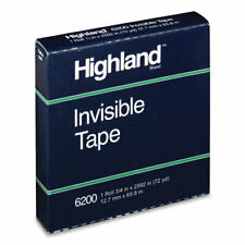 Invisible Permanent Mending Tape 3 Core 05 X 72 Yds Clear 1 Roll