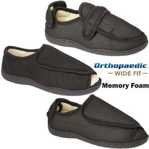 MENS-LADIES-New-DIABETIC-ORTHOPAEDIC-EASY-CLOSE-WIDE-FITTING-SLIPPERS-SHOES-SIZE