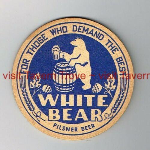 """Scarce 1940s Chicago WHITE BEAR PILSNER BEER 3½/"""" Tavern Trove"""