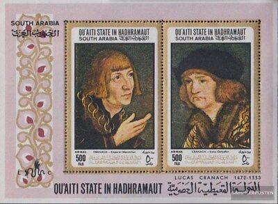 Aden - Qu´aiti State Block18a (complète Edition) Neuf Avec Gomme Originale 1967