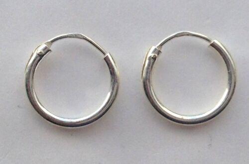 Bali Hoop Earrings Sterling Silver 10mm Free UK Delivery