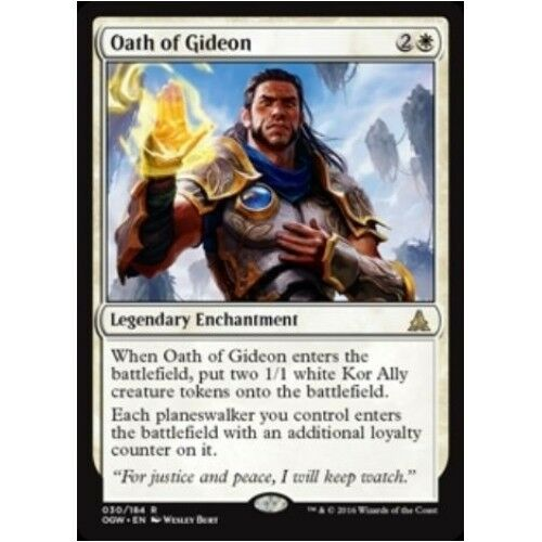 OATH OF GIDEON NM mtg Oath of the Gatewatch White - Legendary Enchantment Rare