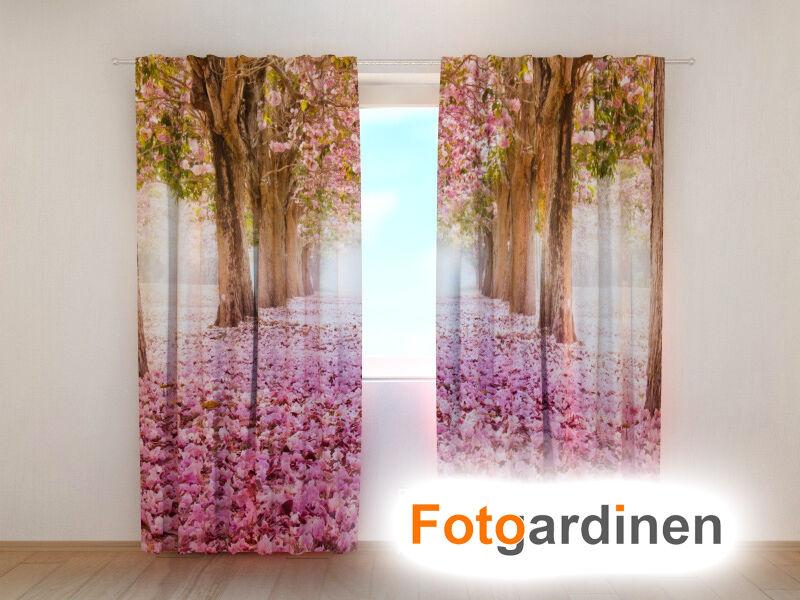 Foto visillos  magnolia  cortina 3d impresión fotográfica, foto cortina,, hecha a medida