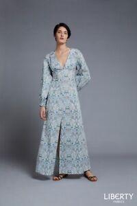 Liberty-de-Londres-Gabarit-Beatrix-Maxi-Robe-Facile-Motif-Imprime
