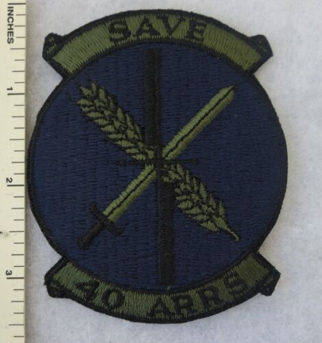 40th ARRS AEROSPACE RESCUE /& RECOVERY SQUADRON US AIR FORCE PATCH Subdued