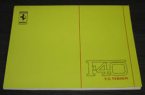Betriebsanleitung-US-Ferrari-F40-Technical-Manual-478-PS-8-Zylinder-F-40-USA-88