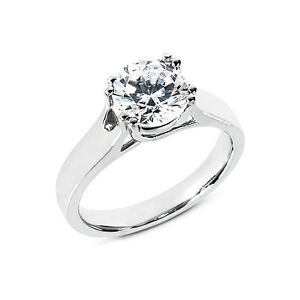 Schmuck-Ringe-Diamanten-14-Karat-585er-Weissgold-0-25-Karat-Solitaer-Wesselton