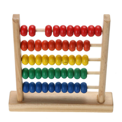 Children Wood Color Bead Abacus Counting Frame Educational Learning Math Toy KE