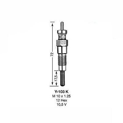 6325 1x NGK Glow Plug Y-103K Y103K