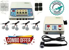 Home Use Combo 4 Channel Electrotherapy Unit Ultrasound 1mhz Therapy Us Machine