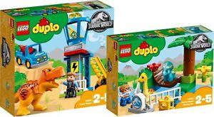 LEGO DUPLO 10880 und 10879 Jurassic World T-Rex Tower Dino-Streichel<wbr/>zoo N6/18