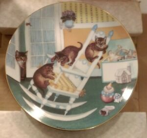 HAMILTON-COLLECTION-VINTAGE-COUNTRY-KITTENS-034-WALL-PLATE-034-EXCELLENT-CONDITION-034