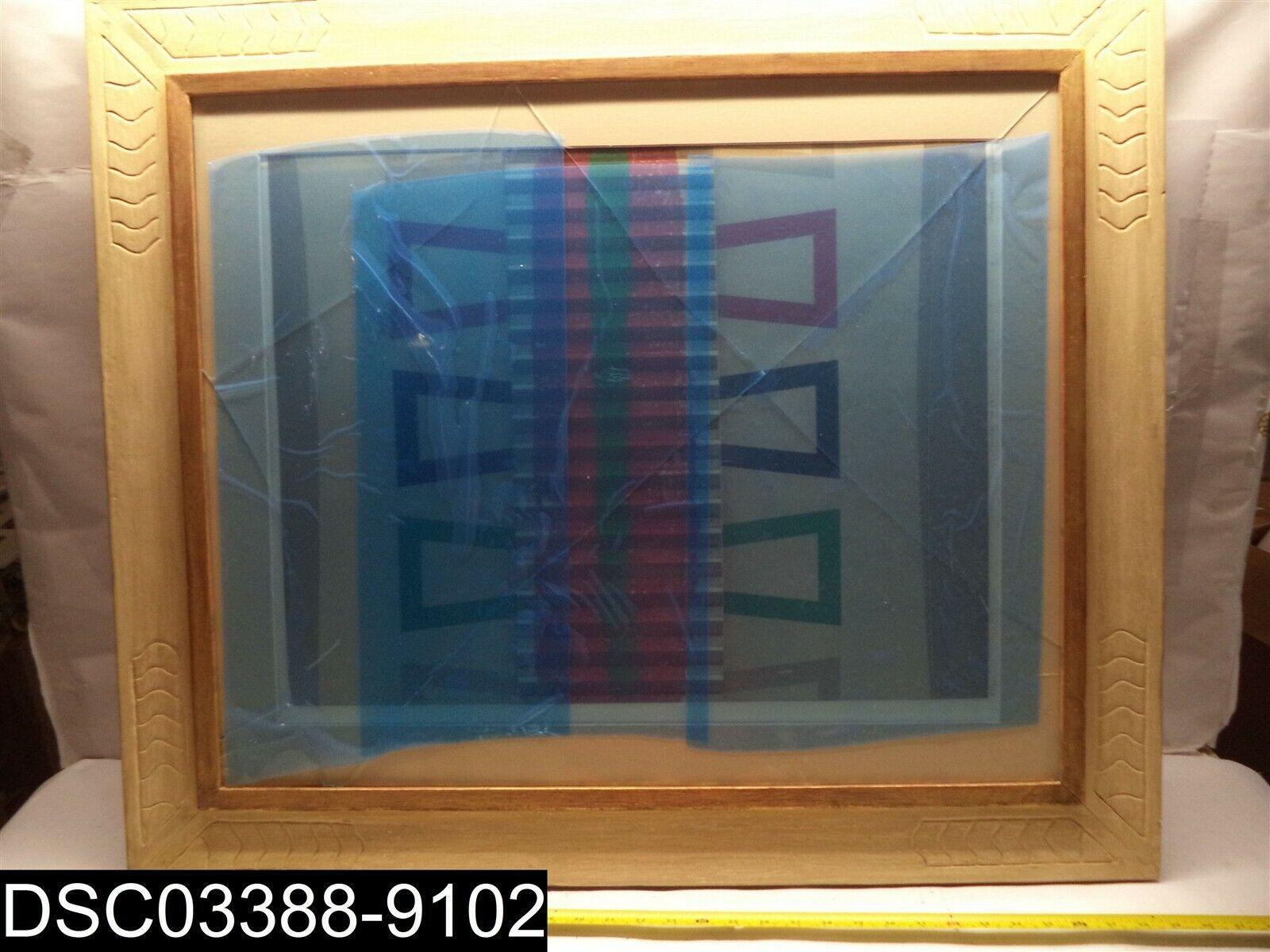 BROKEN GLASS  Decorative Wood Frame 36  x 31-1 2  OD and 28-3 4  X 23-1 2  ID