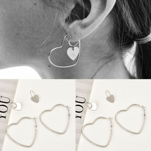 1 Pair Cool Punk Simple Geometric Curved Line Circle Alloy Lady Club Earrings