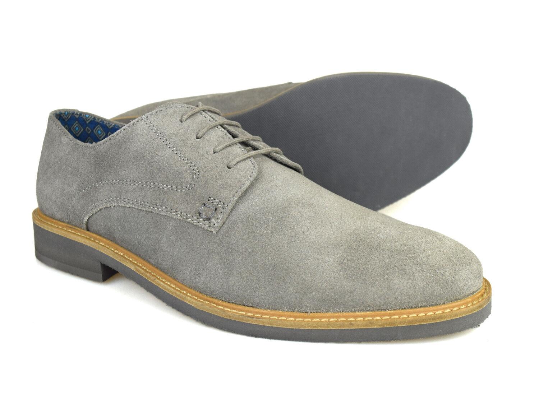 Silver Street limettengrün Herren grau Wildleder Freizeit Derby Schuhe
