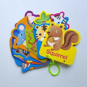Educational Animal Flash Cards Increase Skill Self Learning Education Fun For Kid Baby Child