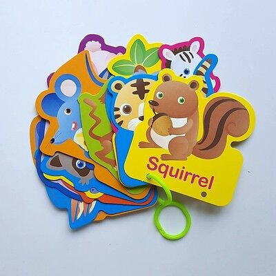 Children & Ya Non-fiction Educational Animal Flash Cards Increase Skill Self Learning Education Fun For Kid Baby Child