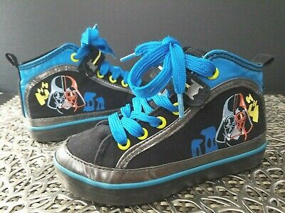 Disney Store STAR WARS Classic Blue Black Yellow Hi Top Sneakers Boy Shoes Sz 10 | eBay
