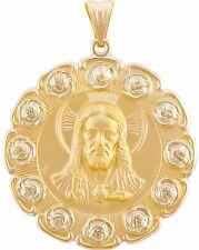 Pendant - Sacred Heart of Jesus and Our Lady of Guadalupe w/ Roses Medal -4.5cm