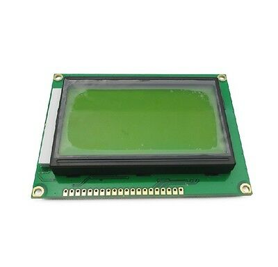 1pcs ST7920 5V 12864 128x64 Dots Graphic LCD Yellow green Backlight