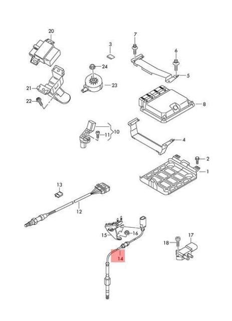 Genuine Exhaust Gas Temperature Sensor 2 Pin AUDI A6 059906088CK