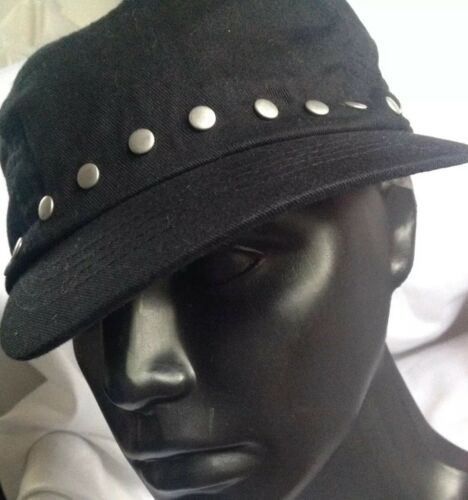 August  Military Cadet Studded Hat New