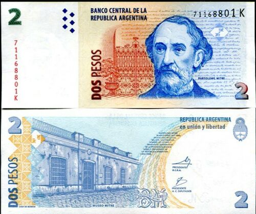 ARGENTINA 2 PESOS ND 2010 P 352 SERIES K UNC