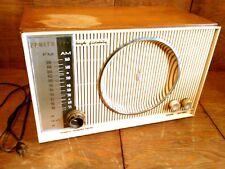 Vtg 50's Zenith High Fidelity AM/FM/FMC Tube Radio w/Phono Input Works 666