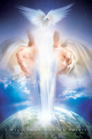 I Will Pour Out My Spirit (acts 2:17) Biblical Inspirational Christian Poster