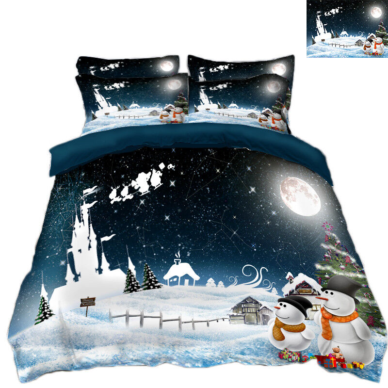 3D Christmas Xmas 740 Bed Pillowcases Quilt Duvet Cover Set Single Queen AU