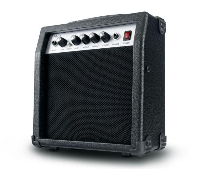 Amplificatore Chitarra Combo Boost Regolazione Gain Uscita Cuffie 3 Band EQ 10W
