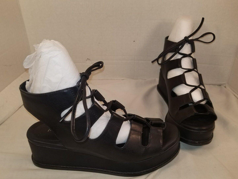 ventas en linea Nuevo Nuevo Nuevo Jeffrey Campbell Gladiador Sandalias De Plataforma De Cuero Negro Ximeno nosotros tamaño 6.5  en venta en línea