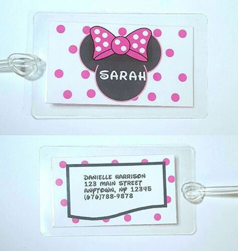 Minnie Mouse Disney inspired personalized check book cover PINK BOW