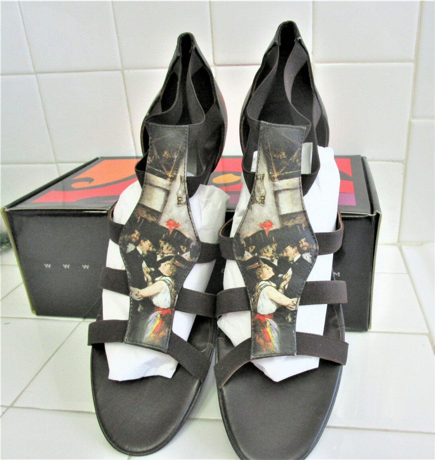 ICON SHOES   MASKED BALL OPERA   STRAP SANDALS  SMALL HEEL   BRAND NEW IN BOX