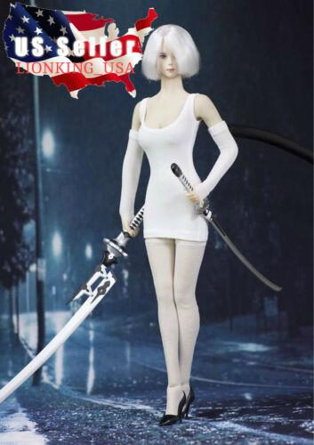 1//6 White Mini Dress Stocking Arm Sleeves For PHICEN Nier YoRHa 2B Hot Toys❶USA❶