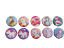 10x LARGE 45mm CUTE GIRLS UNICORN RAINBOW BADGES PIN BUTTON PARTY BAG FAVOURS