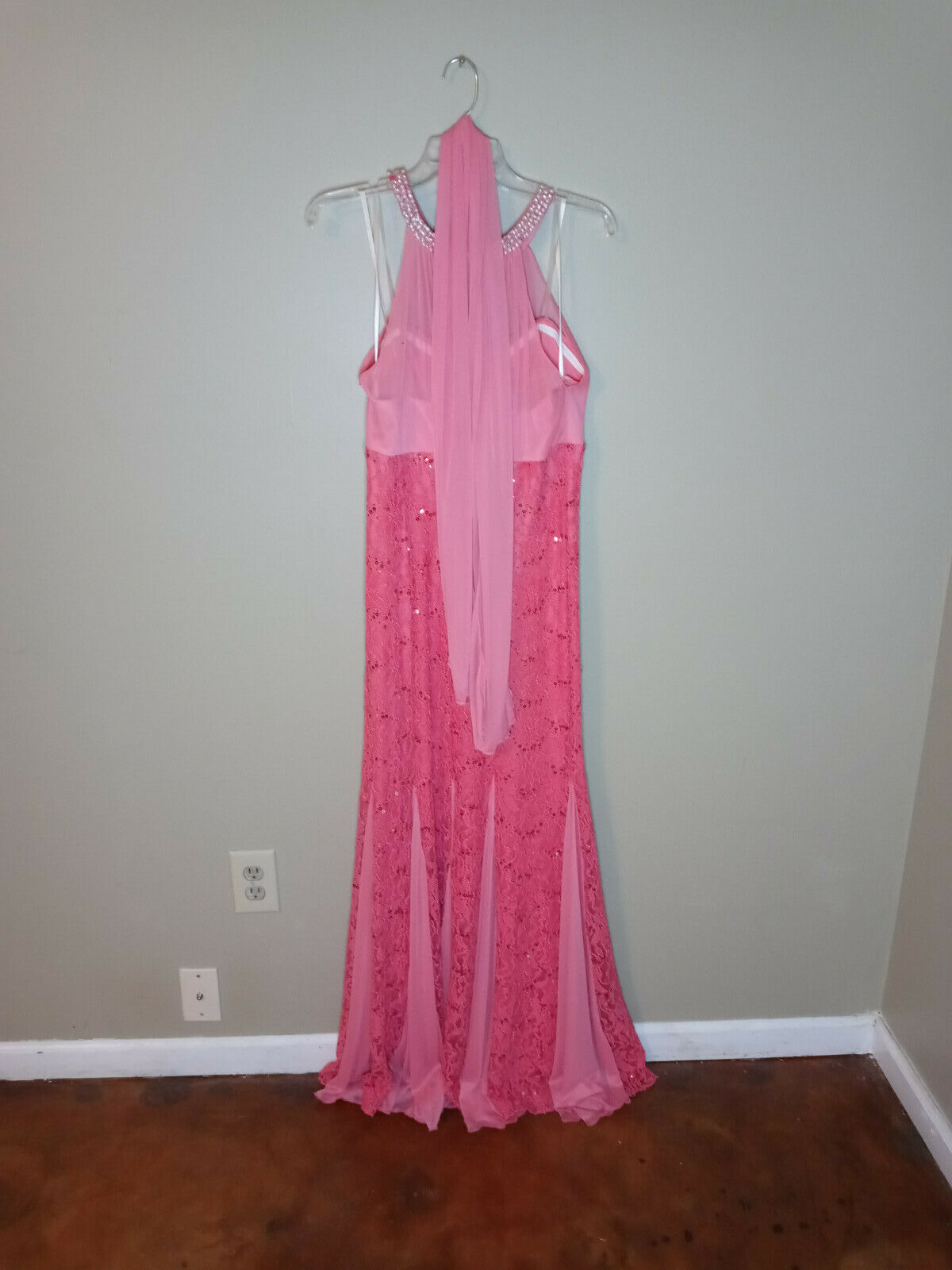 Beautiful coral mermaid maxi dress for special oc… - image 2